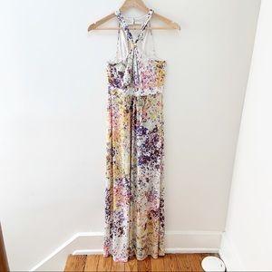 Guess floral pattern maxi dress sz 4